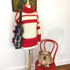 Candy-Striped Vintage Sweater